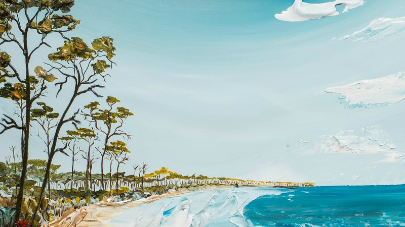 Justin Gaffrey Paining Seaside beaches